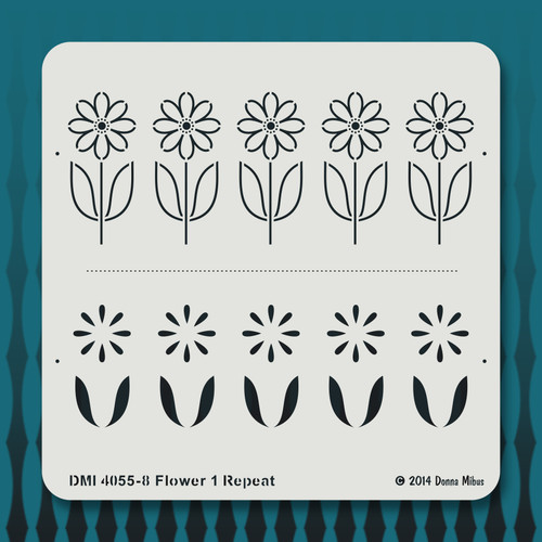 4055 Flower 1 Repeat stencil