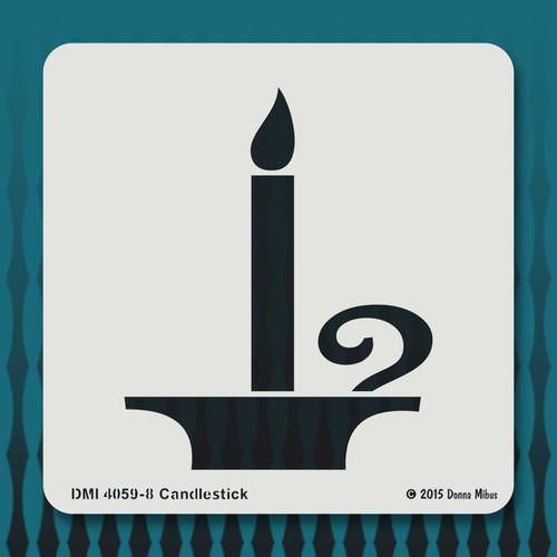 4059 Candlestick stencil