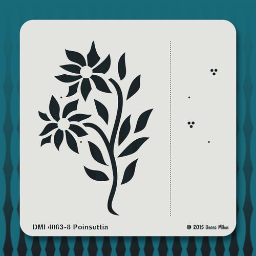 4063 Poinsettia stencil