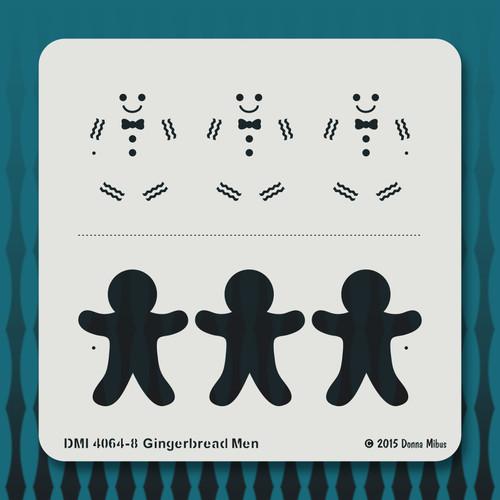 4064 Gingerbread Men stencil