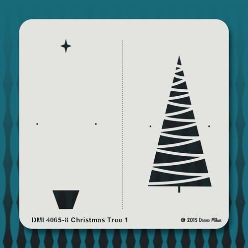 4065 Christmas Tree 1 stencil