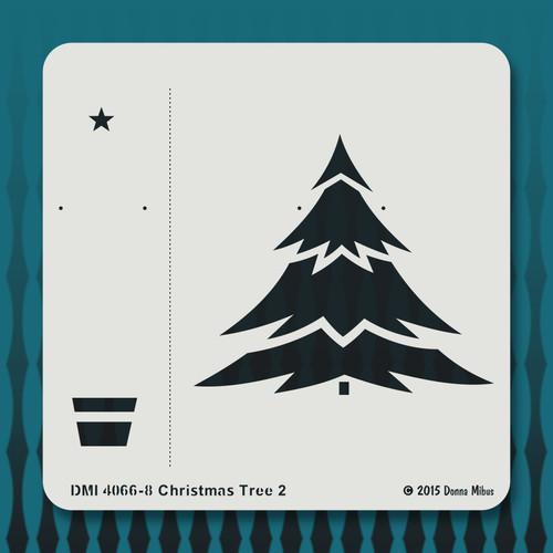 4066 Christmas Tree 2 stencil