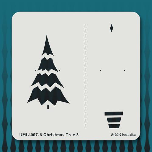 4067 Christmas Tree 3 stencil