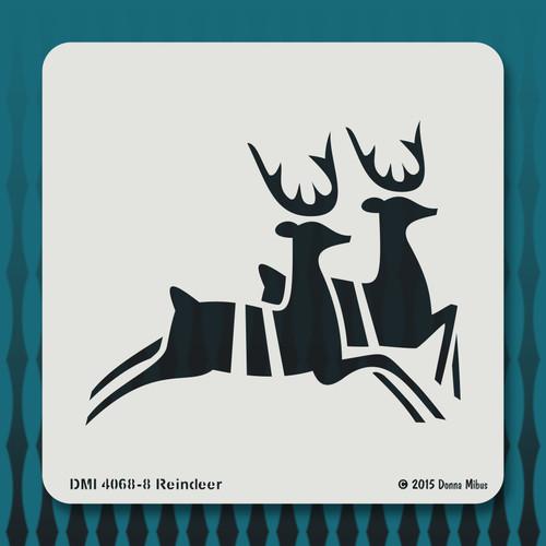 4068 Reindeer stencil