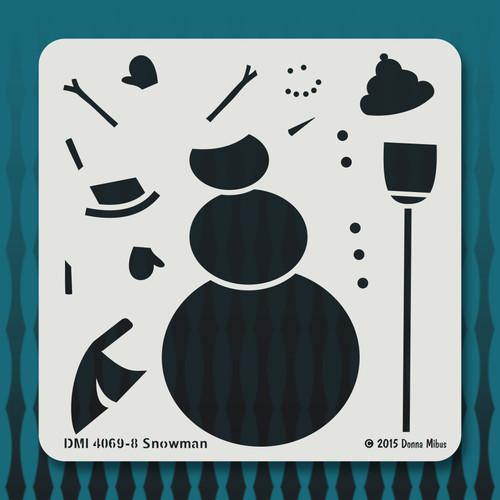 4069 Snowman stencil