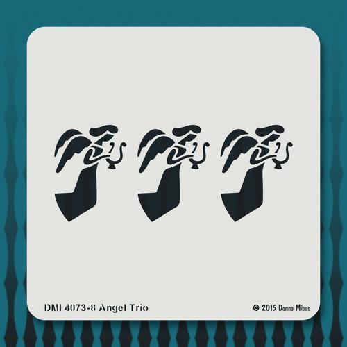 4073 Angel trio stencil