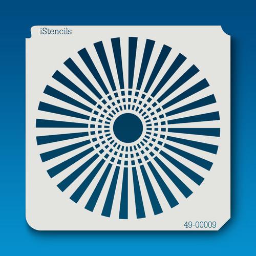 49-00009 Groovy Pinwheel Flower Stencil