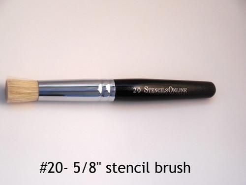 "#20 5/8"" -  Stencil Brush"