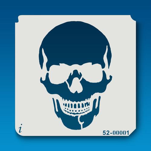 52-00001 Serious Skull Stencil