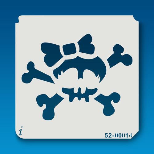 52-00014 Bow Skull & Crossbones