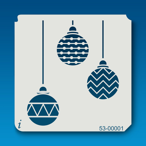 53-00001 Christmas Ornament Trio Stencil