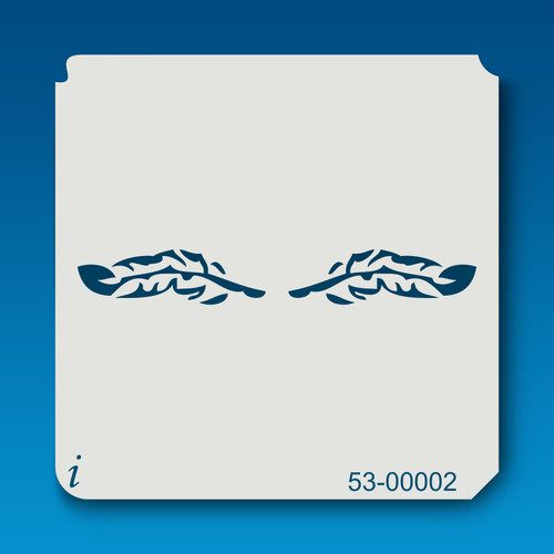 53-00002 feathers tattoo stencil