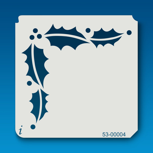 53-00004 holly leaves stencil