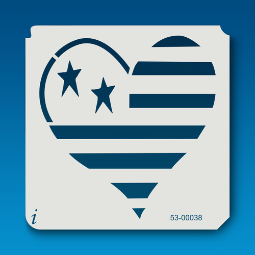 53-00038 Primitive Stars and Stripes Heart