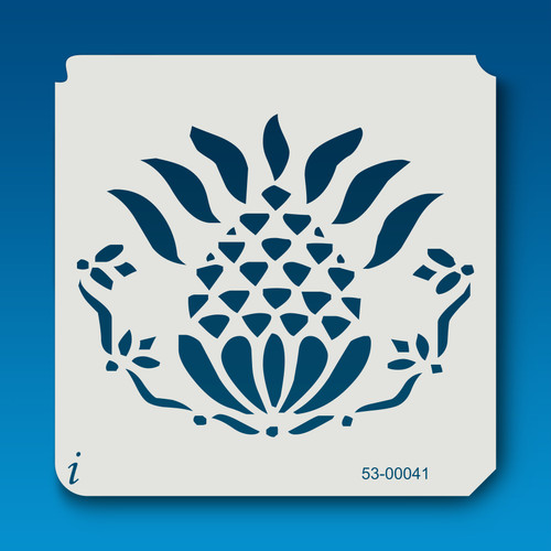 53-00041 Primitive Pineapple Flourish Stencil