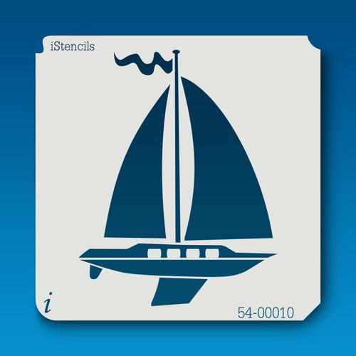 54-00010 sailboat #2 stencil