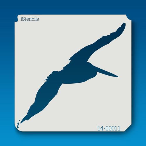 54-00011 pelican silhouette stencil