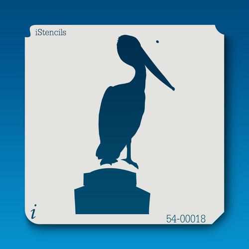 54-00018 Pelican Silhouette 1 Stencil