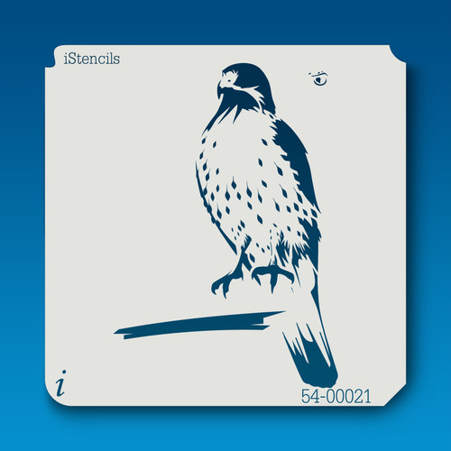 54-00021 perched hawk stencil