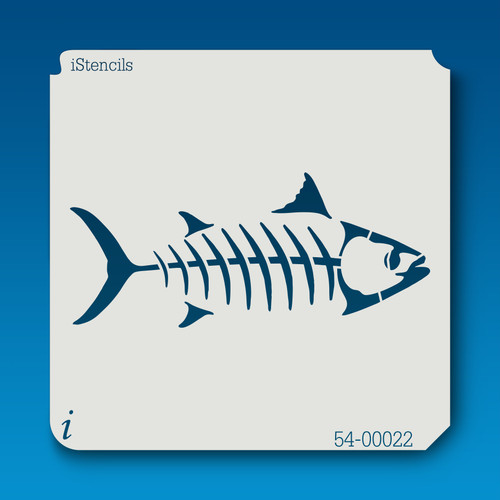 54-00022 fish skeleton stencil