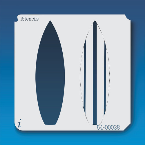 54-00038 Striped Surf Board Stencil