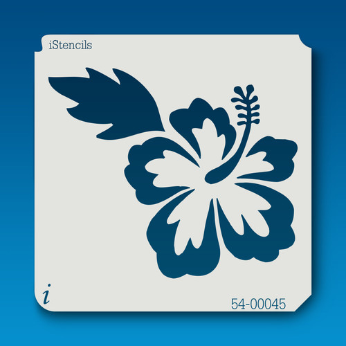 54-00045 Small Hibiscus Flower Stencil