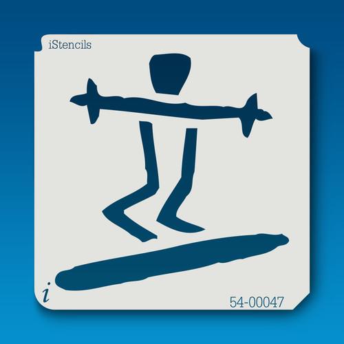 54-00047 Surfing Stickman Stencil