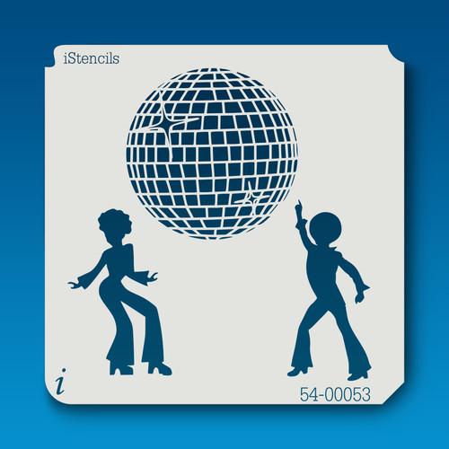 54-00053 disco dancing stencil