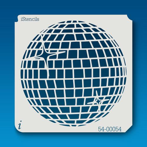54-00054 disco ball stencil