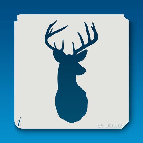 55-00002 Deer Head Silhouette 2 Stencil