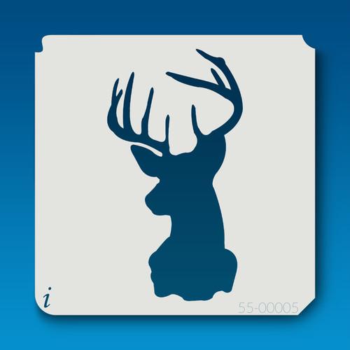 55-00005 deer head silhouette 4 stencil