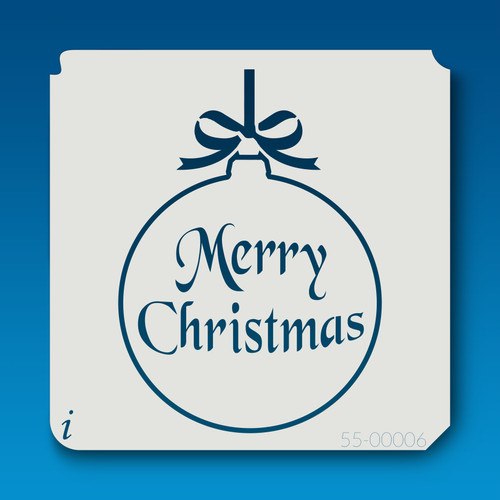 55-00006 merry christmas ornament stencil