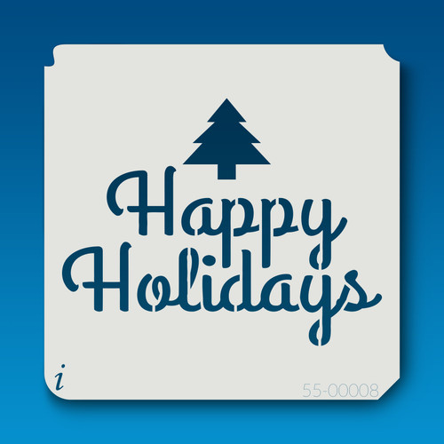 55-00008 happy holidays stencil