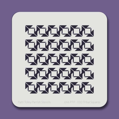 6X6 PTP-010 Tribal Squares