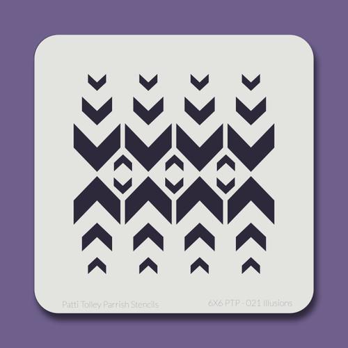 6X6 PTP-021 Illusions Stencil