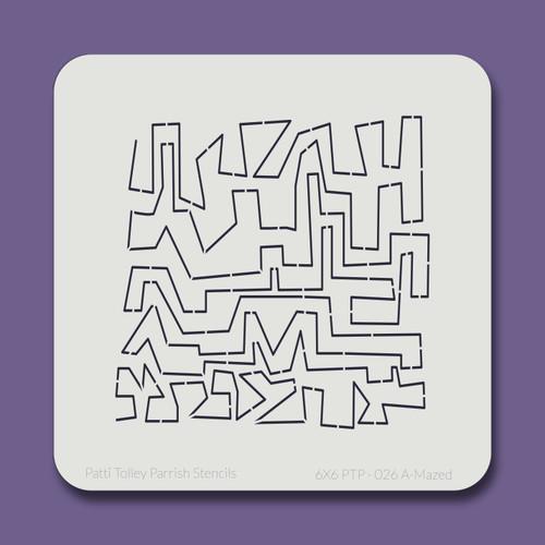 6X6 PTP-026 A-Mazed Stencil