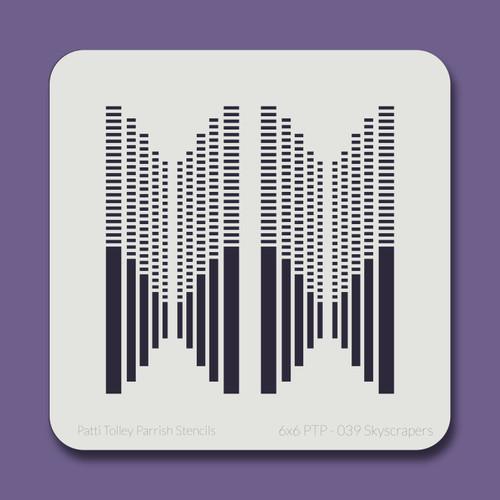 6X6 PTP-039 Skyscrapers Stencil