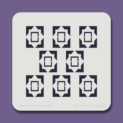 6X6 PTP-042 Squares Stencil