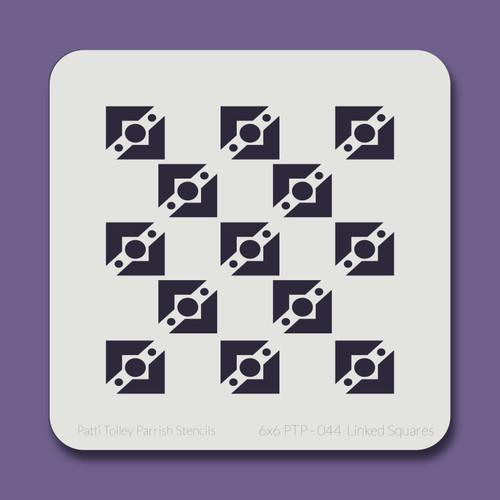 6X6 PTP-044 Linked Squares Stencil