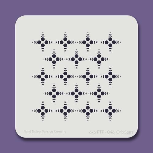 6X6 PTP-046 Orb Stars Stencil