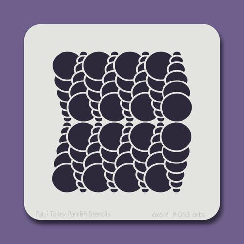 6x6 PTP-063 orbs stencil