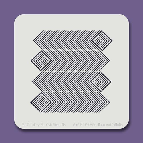 6x6 PTP-065 diamond infinity stencil