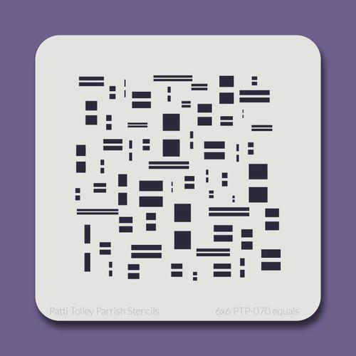6x6 PTP-070 equals stencil