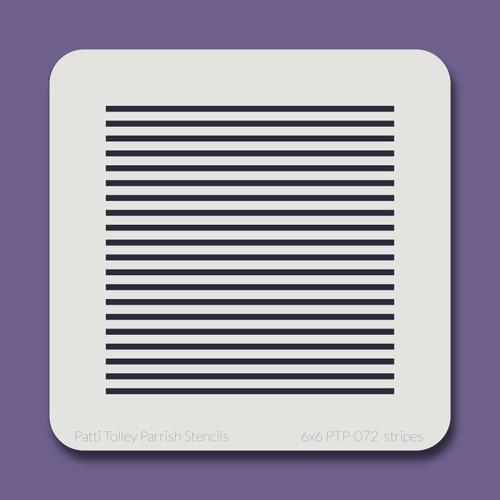 6x6 PTP-072 stripes stencil