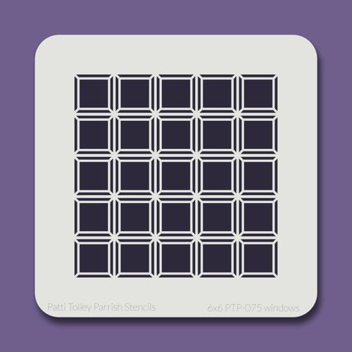6x6 PTP-075 windows stencil