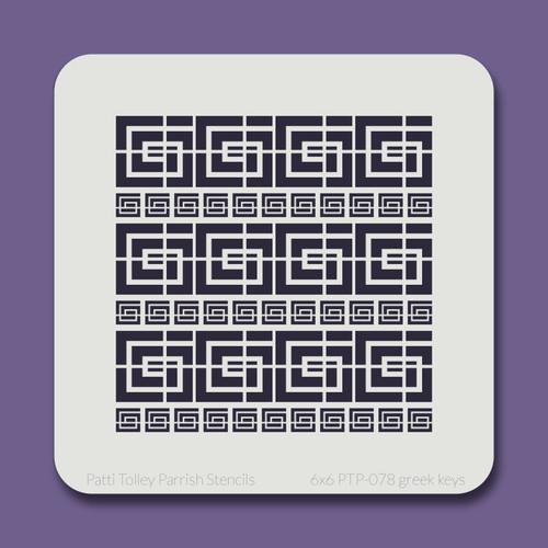 6x6 PTP-078 greek keys stencil