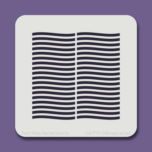 6x6 PTP-108 wavy stripes