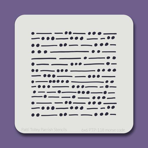 6x6 PTP-118 morse code