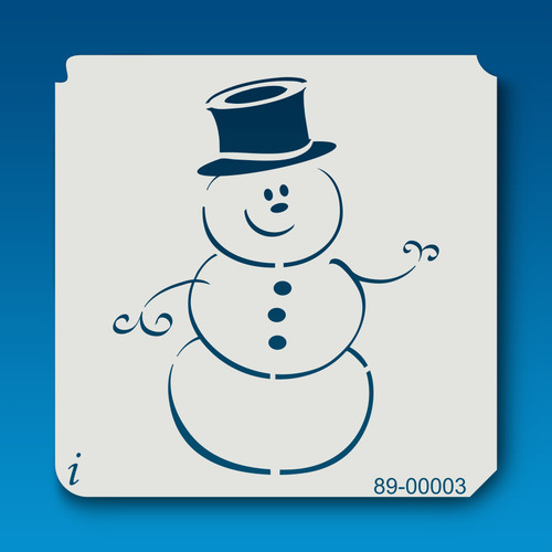 89-00003 Snowman Holiday Stencil