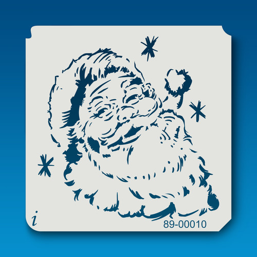 89-00010 Santa Holiday Stencil